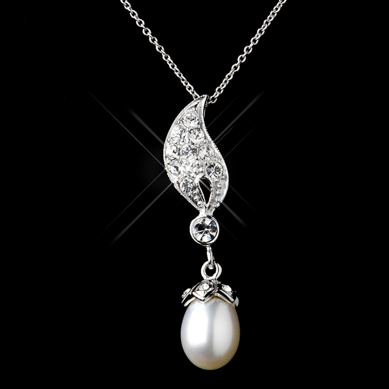 PictureFreshwater Pearl Drop Necklace & Earrings Set