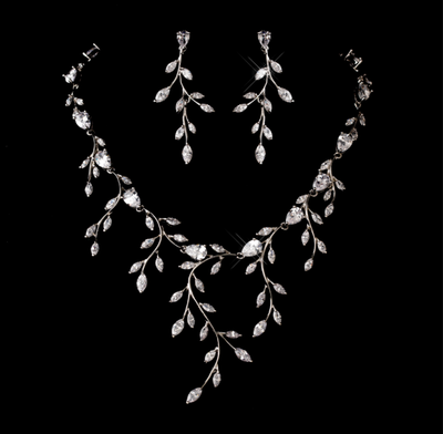 crystal necklace vine statement silver necklaces